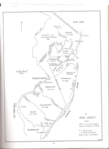 Map of NJ Counties in 1710 by J Snyder
