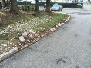 Curb Damaged by Snow Plow