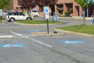 ADA Parking space without access aisle